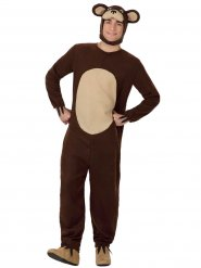 Costume da orso marrone per adulto