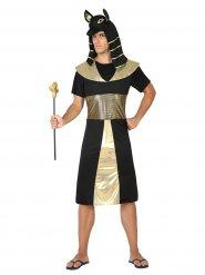 Costume faraone egiziano nero e dorato per uomo