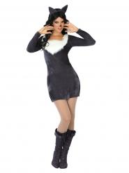 Costume da lupo grigio sexy per donna