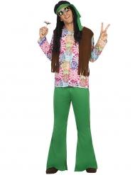 Costume hippie verde per uomo