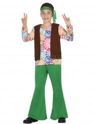 Costume da hippie verde per ragazzo