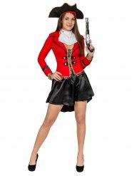 Costume Pirata rosso e nero Donna