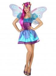 Costume da fata blu e lilla per donna