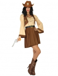 Costume da cowgirl in gonna per donna