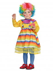 Costume clown multicolore bébé