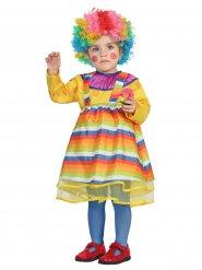 Costume clown multicolore bébé