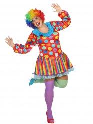 Costume da clown per donna taglia grande