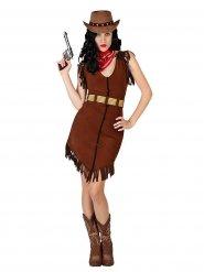 Costume da Cowgirl marrone  grandi taglie