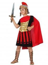 Costume da soldato romano nero e rosso per bambino