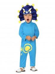 Costume da dinosauro azzurro per bambino