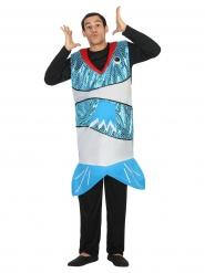Costume da pesce blu per adulto