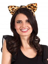 Cerchietto orecchie la leopardo per donna