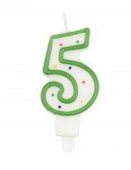Candela compleanno multicolore numero 5 7,5 cm