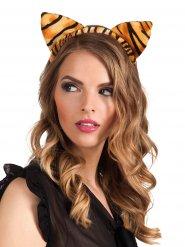 Cerchietto orecchie di tigre per adulto