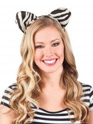 Cerchietto con orecchie di zebra per adulto