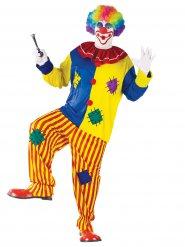 Costume clown da uomo multicolore taglia grande