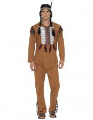 Costume da indiano con frange per uomo