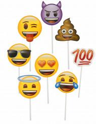 Kit photobooth 8 pezzi Emoji™