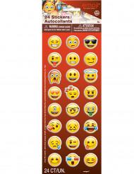 24 adesivi emoticons Emoji™