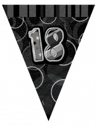 Ghirlanda di bandierine grigia 18 anni