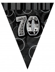 Ghirlanda di bandierine grigia 70 anni