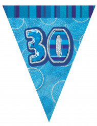 Ghirlanda di bandierine blu per 30 anni