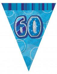 Ghirlanda di bandierine blu 60 anni
