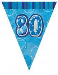 Ghirlanda blu 80 anni