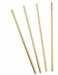 10 cannucce color oro metallizzate