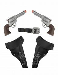2 Pistole Cowboy con fodero per bambino