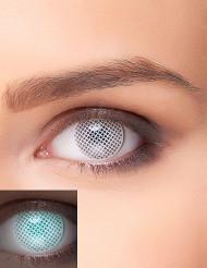Image of Lenti a contatto bianche a fantasia con quadratini UV