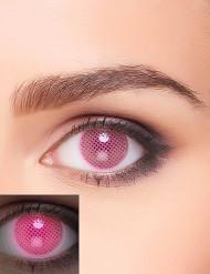 Lenti a contatto rosa a fantasia con quadratini UV