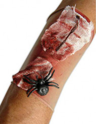 Manicotto a piaga insanguinata con ragno per adulto