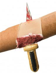 Manicotto piaga insaguinata con coltello