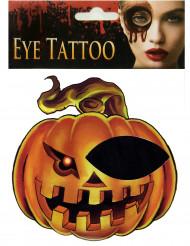 Tatuaggio per occhio forma di zucca