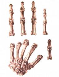 Tatuaggi per mani da scheletro adulto