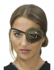 Copriocchio occhio di coccodrillo Steampunk da donna
