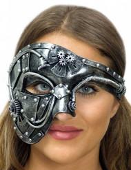 Mezza maschera con ingranaggi adulto steampunk