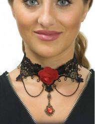 Collana pizzo nero per donna Dia de los muertos