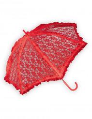 Ombrello in pizzo rosso lusso