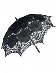 Ombrello in pizzo nero lusso