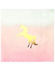 16 tovagliolini di carta Unicorno