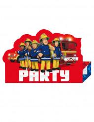 8 inviti di compleanno Sam il Pompiere™
