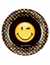 8 piatti in cartone 23 cm Smiley Emoticons™