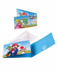 8 Inviti e buste da lettera Super Mario™