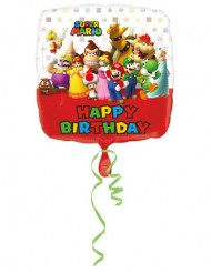 Palloncino alluminio Happy Birthday Mario Bros™ 43 cm