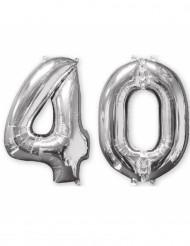 Confezione di due palloncini di alluminio numero 40