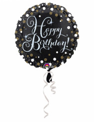 Palloncino alluminio Happy Birthday scintillante