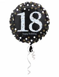 Palloncino in alluminio Happy Birthday per 18 anni