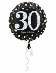 Palloncino in alluminio Happy Birthday scintillante 30 - 45 cm